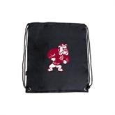 Black Drawstring Backpack-Bulldog