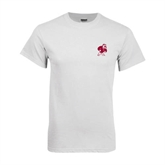 White T Shirt-Bulldog