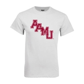 White T Shirt-AAMU Stacked