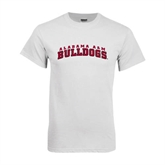 White T Shirt-Alabama A&M Bulldogs Arched