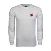 White Long Sleeve T Shirt-Bulldog