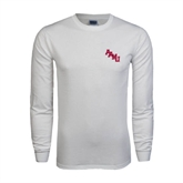 White Long Sleeve T Shirt-AAMU Stacked