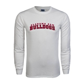 White Long Sleeve T Shirt-Alabama A&M Bulldogs Arched