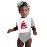 White Baby Bib-Official Logo