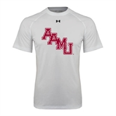 Under Armour White Tech Tee-AAMU Stacked
