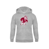 Youth Grey Fleece Hood-Bulldog