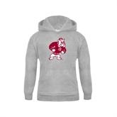 Youth Grey Fleece Hood-Bulldog