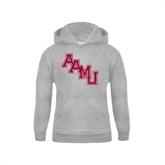 Youth Grey Fleece Hood-AAMU Stacked