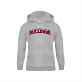 Youth Grey Fleece Hood-Alabama A&M Bulldog Arched