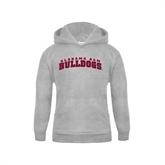 Youth Grey Fleece Hood-Alabama A&M Bulldog Arched