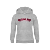 Youth Grey Fleece Hood-Alabama A&M University Arched