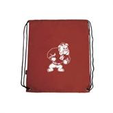 Cardinal Drawstring Backpack-Bulldog
