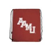 Cardinal Drawstring Backpack-AAMU Stacked