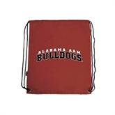 Cardinal Drawstring Backpack-Alabama A&M Bulldogs Arched