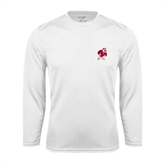 Syntrel Performance White Longsleeve Shirt-Bulldog