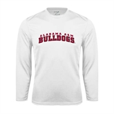 Performance White Longsleeve Shirt-Alabama A&M Bulldogs Arched