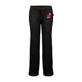 ENZA Ladies Black Fleece Pant-Bulldog