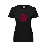 Ladies Black T Shirt-Official Logo