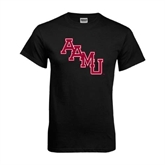 Black T Shirt-AAMU Stacked