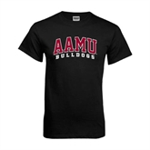 Black T Shirt-AAMU Bulldogs Arched