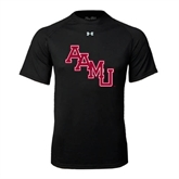Under Armour Black Tech Tee-AAMU Stacked
