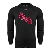 Under Armour Black Long Sleeve Tech Tee-AAMU Stacked
