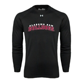 Under Armour Black Long Sleeve Tech Tee-Alabama A&M Bulldogs Arched