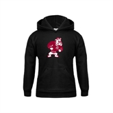 Youth Black Fleece Hoodie-Bulldog