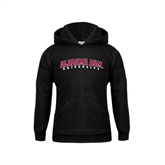 Youth Black Fleece Hoodie-Alabama A&M University Arched