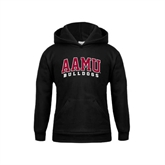 Youth Black Fleece Hoodie-AAMU Bulldogs Arched