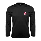 Syntrel Performance Black Longsleeve Shirt-Bulldog