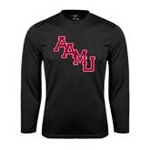 Syntrel Performance Black Longsleeve Shirt-AAMU Stacked