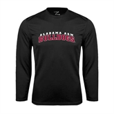 Performance Black Longsleeve Shirt-Alabama A&M Bulldogs Arched