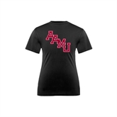 Youth Performance Black Tee-AAMU Stacked