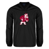 V Neck Black Raglan Windshirt-Bulldog