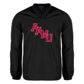 V Neck Black Raglan Windshirt-AAMU Stacked