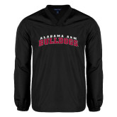 V Neck Black Raglan Windshirt-Alabama A&M Bulldogs Arched