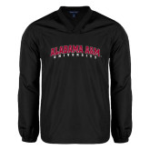 V Neck Black Raglan Windshirt-Alabama A&M University Arched
