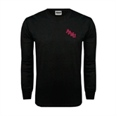 Black Long Sleeve TShirt-AAMU Stacked