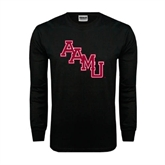 Black Long Sleeve TShirt-AAMU Stacked