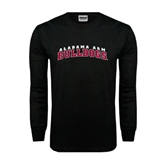 Black Long Sleeve TShirt-Alabama A&M Bulldogs Arched