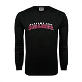 Black Long Sleeve TShirt-Alabama A&M Bulldogs Arched