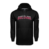 Under Armour Black Performance Sweats Team Hoodie-Alabama A&M Bulldogs Arched
