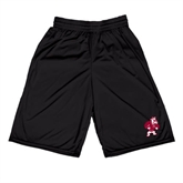 Russell Performance Black 9 Inch Short w/Pockets-Bulldog