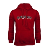 Cardinal Fleece Hoodie-Alabama A&M University Arched