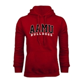 Cardinal Fleece Hoodie-AAMU Bulldogs Arched