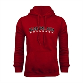 Cardinal Fleece Hoodie-Alabama A&M Bulldogs Arched