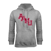 Grey Fleece Hoodie-AAMU Stacked