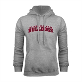 Grey Fleece Hoodie-Alabama A&M Bulldogs Arched