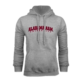 Grey Fleece Hoodie-Alabama A&M University Arched